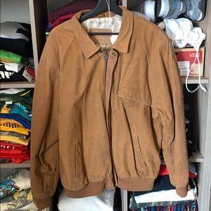 Marlboro Vintage Distressed Leather Maps Jacket